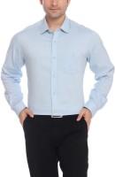 ColorPlus Men Solid Formal Blue Shirt