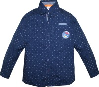 FS Mini Klub Boys Printed Casual Dark Blue Shirt