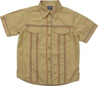 Lilliput Boys Solid Casual Brown Shirt