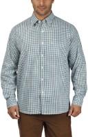 ColorPlus Men Checkered Casual Green Shirt