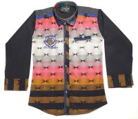 Empire Apparels Boys Embroidered Casual Pink Shirt