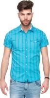 Mufti Mens Striped Casual Blue Shirt