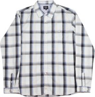 Indian Terrain Boys Checkered Casual White, Grey, Blue Shirt