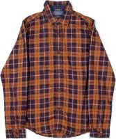 Indian Terrain Boys Casual Blue, Orange, Brown Shirt