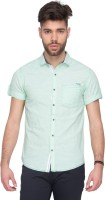 Mufti Mens Solid Casual Light Green Shirt