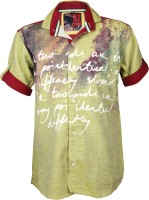 Kidzee Boys Printed Casual Yellow Shirt