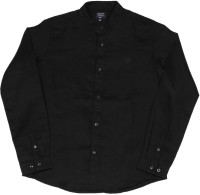 Indian Terrain Boys Solid Casual Black Shirt