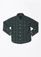 Gant Boys Checkered Casual Blue, Green Shirt