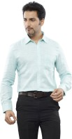 Turtle Mens Solid Formal Green Shirt