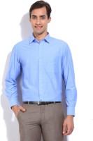 John Players Mens Solid Formal Blue Shirt