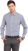I-Voc Mens Checkered Formal Blue, Black Shirt