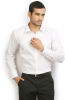I-Voc Mens Solid Formal White Shirt