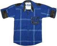 Kidzee Boys Checkered Casual Blue Shirt