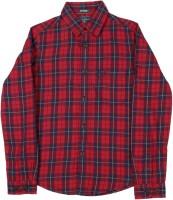 Indian Terrain Boys Casual Red Shirt