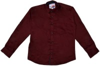 Little Man Boys Solid Casual classic collar Shirt