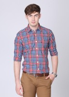 Allen Solly Mens Checkered Formal White, Red, Blue Shirt