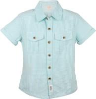 Tonyboy Boys Checkered Casual Blue Shirt