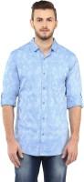 Spykar Men's Floral Print Casual Blue Shirt thumbnail