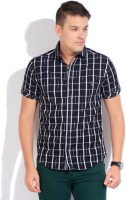 The Indian Garage Co. Mens Checkered Casual Black Shirt