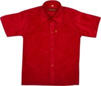 Thangamagan Boys Solid Casual Red Shirt