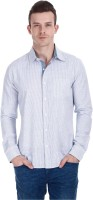 Zobello Mens Striped Casual Multicolor Shirt