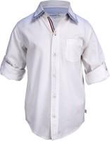 ShopperTree Boys Solid Casual White Shirt