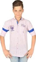 Anry Boys Checkered Casual Ribbed Collar Shirt