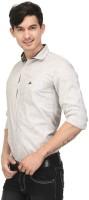 Macoro Mens Solid Casual Brown Shirt