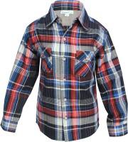 ShopperTree Boys Checkered Casual Red, Black Shirt