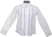 Lil Poppets Boys Solid Casual White Shirt
