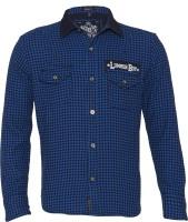 Lumber Boy Boys Self Design Casual Blue Shirt