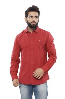 Turtle Mens Solid Casual Red Shirt