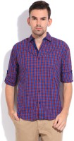 The Indian Garage Co. Mens Checkered Casual Red, Blue Shirt