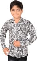 Aedi Boys Graphic Print Casual Grey Shirt