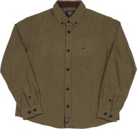 Indian Terrain Boys Solid Casual Brown Shirt