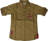 Pogo Boys Self Design Casual Beige Shirt