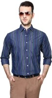 Allen Solly Mens Striped Casual Blue Shirt