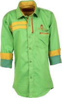 Aedi Boys Solid Casual Light Green Shirt