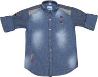 OKS Boys Boys Printed Casual Light Blue Shirt
