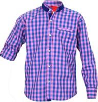 Kidzee Boys Self Design Casual Pink Shirt