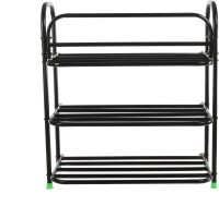 View Benesta Steel Shoe Stand(Black, 3 Shelves) Price Online(Benesta)