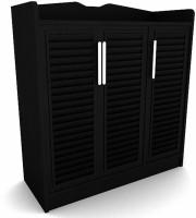 Housefull Engineered Wood Shoe Rack(Black, 8 Shelves)