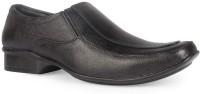 Leather King Finn Black Slip On For Men(Black)