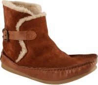 Salt N Pepper 11-382 Ozone Tan Cognac Boots For Women(Tan)