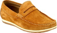 GAI Tan Leather Loafers For Men(Tan)