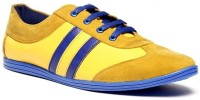 Zapatoz Yellow & Blue Sneakers For Men(Blue, Yellow)