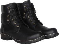 Kraasa Cowboy Boots For Men(Black)