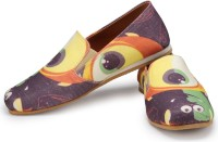 Funk Monsters Purple and Green Canvas Shoes For Men(Multicolor)