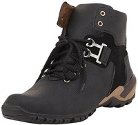 CoolSwagg For Men And Boys Mid Ankle Length Boots For Men(Black, Grey)