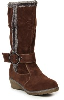 Stylistry Maxis Brown Color Boots For Women(Brown)